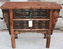 Chinês antigo Shanxi três gaveta de mesa originais