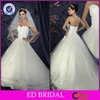 Ball Gown Strapless Appliqued Bead Open Back Western Country Style Wedding Dresses(ED-W141)
