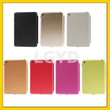 3-folding Naturally Treated Leather Smart Case with Sleep / Wake-up Function & Holder for iPad mini / mini 2 Retina