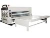 chain feeding 2 color flexo printing and slotting machine / carton printing slotting machine