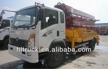 Sinotruk concrete pump truck 17m 21m 24m