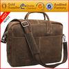 Guangzhou manufacturing nubuck leather handbag fashion laptop messenger bag for men