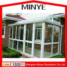 tempered glass roof aluminum sun room/ sunroom / glass house/ Shanghai factory price winter garden/greenhouse