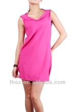 2014 fashion pink ladies dress women dresses maxi dress frock