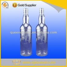 normal flint glass bacardi rum bottle