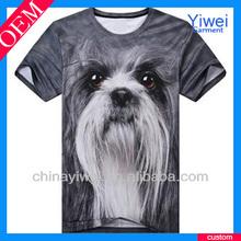 oem sublimation 3d animal t-shirts