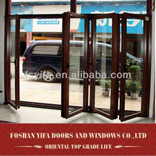 china aluminum glass insert exterior doors folding
