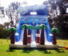 giant inflatable double lane slide,inflatable wave slide A4033