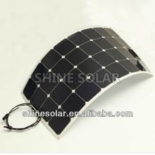 2014 New 100 Watt back contact sunpower cell Semi flexible Solar panel