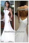 Vestidos De Fiesta Sexy 2014 Free Shipping New Arrival Backless Evening Dress Floor Length White Dress 2014 Vestidos Formales