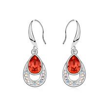 13841 Girls charm crystal tear drop earrings