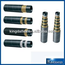 oil resistant steel wire braided hydraulic power steering hoses