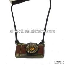 Vintage camera pendant necklace, tourist pendant necklace, happy journey neckalce