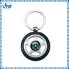 digital tire pressure gauge metal star cork keychain