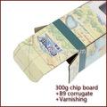 una pieza de paraguas de la caja de color pirata mapa paquete de papel