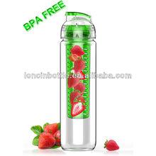 2014 USA hot new tritan fruit infuser water bottle, bpa free 27oz Sport Water Bottle With Fruit Infuser