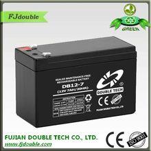 New sla 12v mf auto battery 7ah rechargeable battery DB12-7 2014