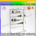 Design simples de metal garrafa de vinho Rack de, Display de mesa organizador