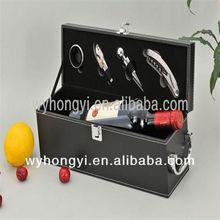 wine box christmas gift coloured glaze head wine stopper