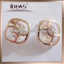 Delicate zircon weld alloy stud earring