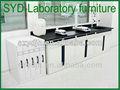 Laboratório/escola/química bancada ilha/móveis laboratório de aço