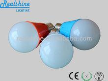 E27 led bulbs housing lamp color bulb 5,7Watt PC body lights supply