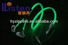 Factory Producing Luminous Zipper Earphone China