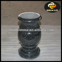 Chinese black granite gravestone accessories