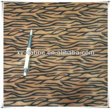 polyester zebra printing plush fabric for sofa and cushion