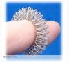Silver finger acupressure massage ring