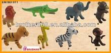 PVC Toy Plastic Wild Animal,plastic little animals toy,custom children cartoon toys