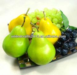 Artificial Foam Pear Fruits Artificial Fake Fruit Factory