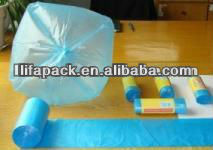 Hdpe purple garbage bags on roll with factory price
