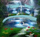 Wholesale circle design printed bedding,cheap/modern/fashion bed sheet set/bed linen/bedding set 3d 100% polyester
