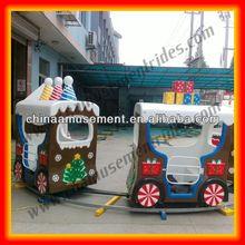 Christmas theme children electric trains cartoon kids train Santa train