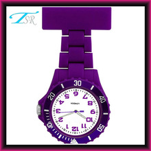2014 Hot gift for nurse watch with plastic band and purple color