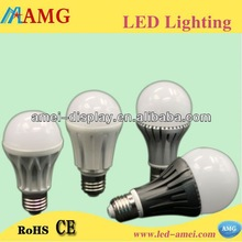 High brightness manufacturing customized lighting ever 7w a19 led bulb housing