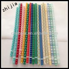 2014 new design colored plastic cold straw