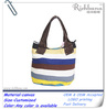colorful canvas log tote bag wholesale