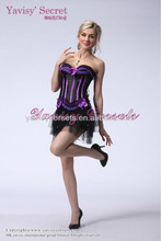 new fashion purple black vertical strip side zipper victorian orchard pinstripe going out tops corset