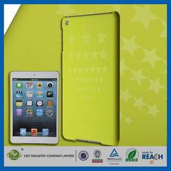 C&T Yellowish green star pattern transparent pc case for ipad mini case