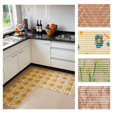 SGS test eco friendly fashion design pvc decorative kitchen floor mat