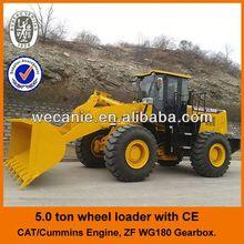 Shangchai engine & ZF gearbox shovel loader ZL50G, Joystick control ZL50G shovel loader