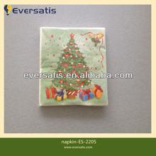 christmas tree paper napkin