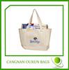 Foldable Printed Plain White Cotton Tote Bag