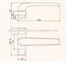 Sliding aliminium door handles,Powder coated handle