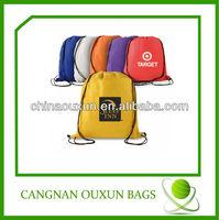high quality customized plastic drawstring backpack bag