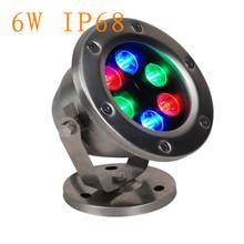 colorful 24v IP68 waterproof 6watt RGB lighting deep drop led underwater swimming pool light