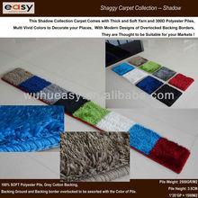 Popular polyester shag modern overlocked flokati rug mat