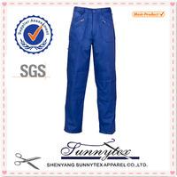 TC royal blue multi pocket cargo 80 polyester 20 cotton pants